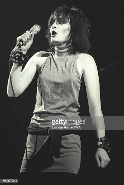 NETHERLANDS circa 1978 Siouxsie Sioux from Siouxsie The Banshees performs live on stage in the Netherlands circa 1978