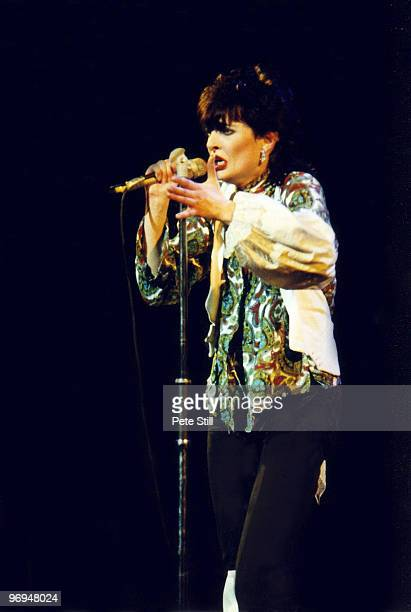 Siouxsie Sioux of Siouxsie and The Banshees performs on stage at Hammersmith Odeon on November 11th 1978 in London England