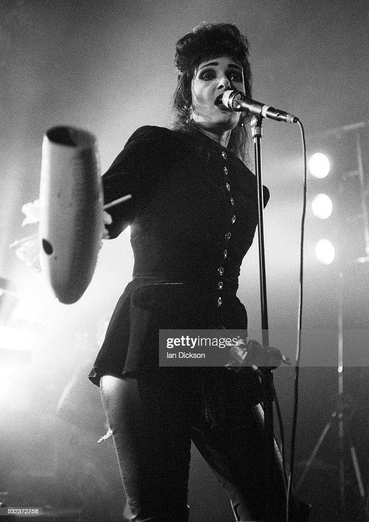 Siouxsie Sioux performing on stage at The Forum London United Kingdom 1995