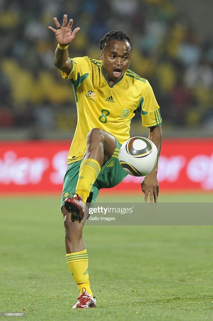 <a gi-track='captionPersonalityLinkClicked' href=/galleries/search?phrase=Siphiwe+Tshabalala&family=editorial&specificpeople=788347 ng-click='$event.stopPropagation()'>Siphiwe Tshabalala</a> during the International friendly match between South Africa and Kenya at Royal Bafokeng Stadium on February 09, 2011 in Rustenburg, South Africa.