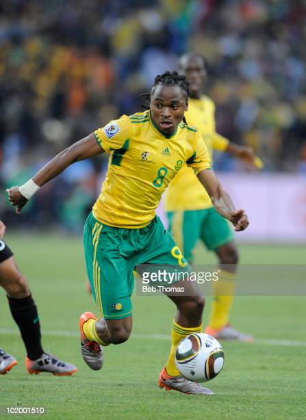 Siphiwe Tshabalala of South Africa during the 2010 FIFA World Cup South Africa Group A match between South Africa and Mexico at Soccer City Stadium...
