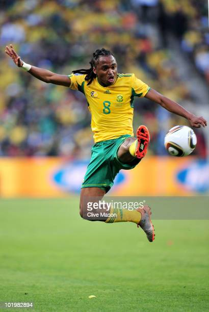 Siphiwe Tshabalala of South Africa in action during the 2010 FIFA World Cup South Africa Group A match between South Africa and Mexico at Soccer City...