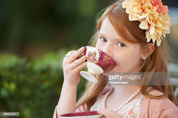 Sipping my tea...