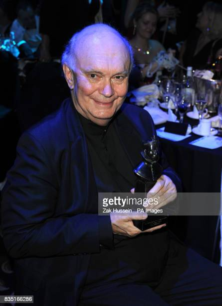 Sir Alan Ayckbourn wins the Special Award during the Laurence Olivier Awards at the Grosvenor Hotel in central London