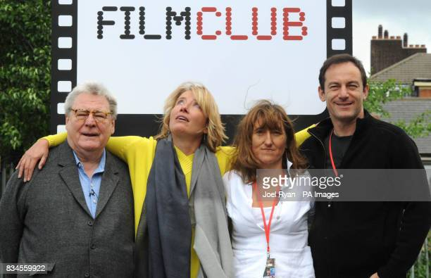 Sir Alan Parker actress Emma Thompson Beeban Kidron and actor Jason Isaacs launch the UK's Filmclub at Morpeth School in Portman Place in east London