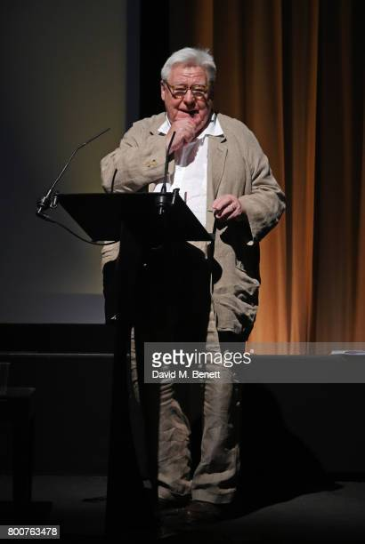 Sir Alan Parker speaks at the BFI Southbank's tribute to Sir John Hurt on June 25 2017 in London England