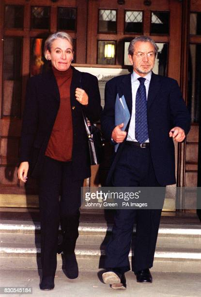 Sir Alan Sugar with a companion leaving the High Court in London A High Court jury was expected to retire to consider its verdict on the libel action...