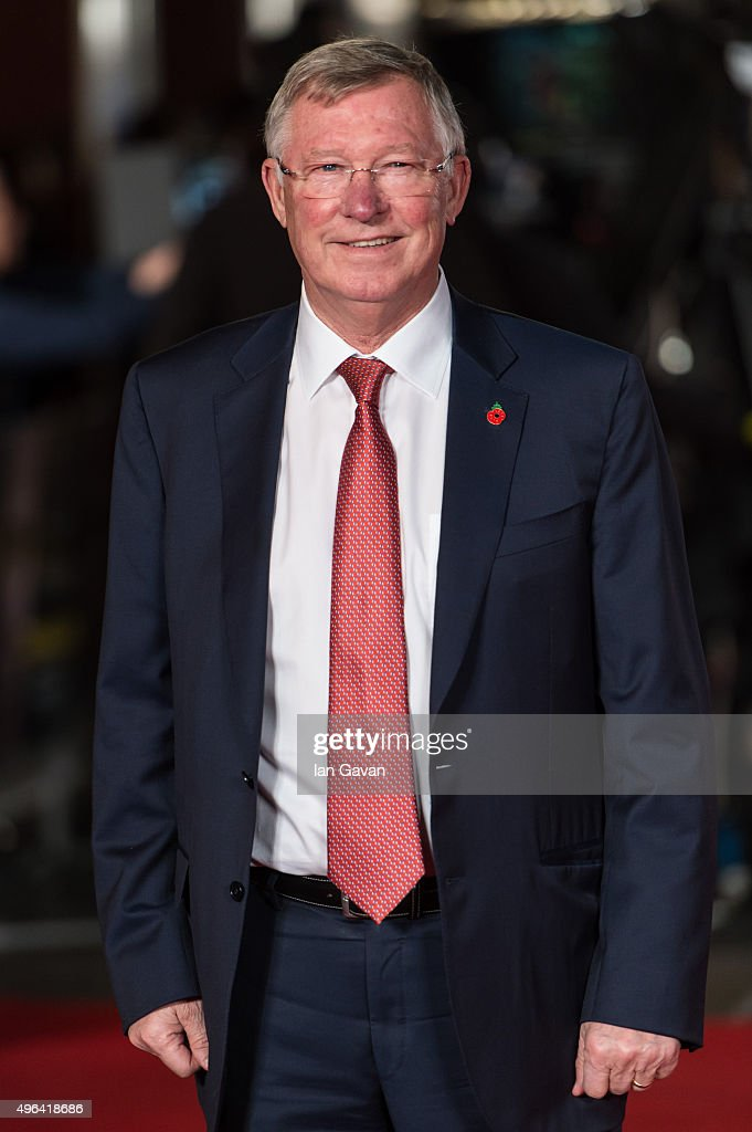Sir Alex Ferguson attends the World Premiere of 'Ronaldo' at Vue West End on November 9, 2015 in London, England.