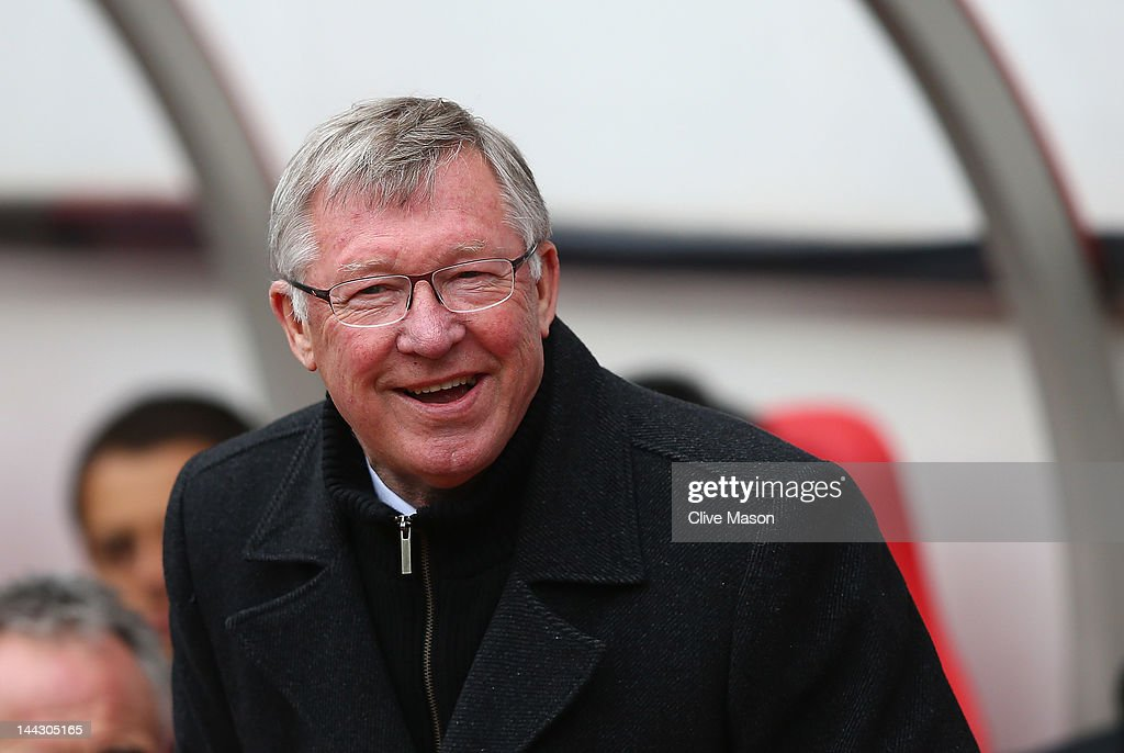 Sir <a gi-track='captionPersonalityLinkClicked' href=/galleries/search?phrase=Alex+Ferguson&family=editorial&specificpeople=203067 ng-click='$event.stopPropagation()'>Alex Ferguson</a> of Manchester United looks on during the Barclays Premier League match between Sunderland and Manchester United at Stadium of Light on May 13, 2012 in Sunderland, England.