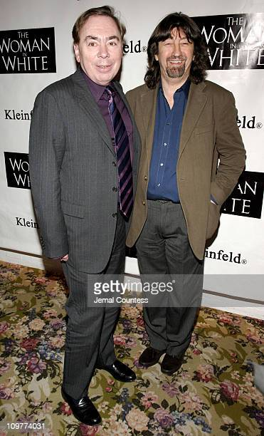 Sir Andrew Lloyd Webber and Trevor Nunn during 'The Woman in White' Broadway Opening Night After Party at Tavern on the Green in New York City New...