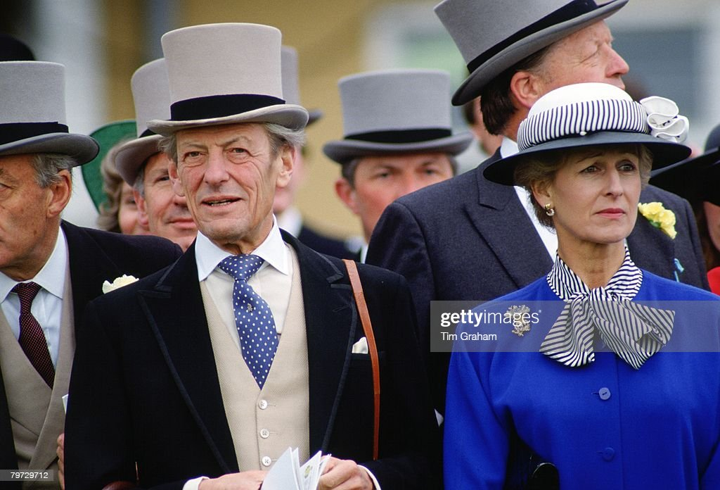 Sir Angus Ogilvy and Princess Alexandra at the Derby