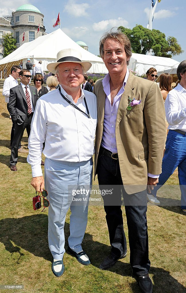 Sir Anthony Bamford (L) and Tim Jefferies attend the Cartier Style & Luxury Lunch at the Goodwood Festival of Speed on July 14, 2013 in Chichester, England.