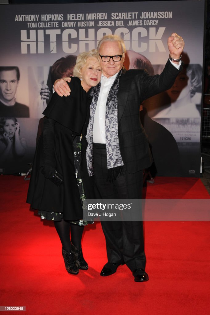 Sir Anthony Hopkins and Dame Helen Mirren attend the UK premiere of Hitchcock at The BFI Southbank on December 9 2012 in London England