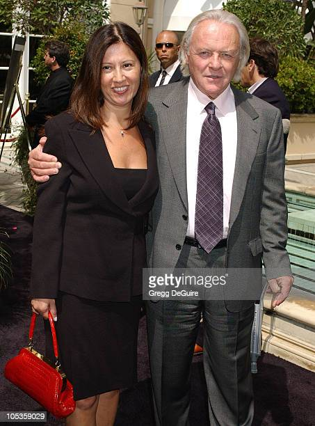 Sir Anthony Hopkins and wife Stella Arroyave during 11th Annual Premiere 'Women in Hollywood' Luncheon at Four Seasons Hotel in Beverly Hills...