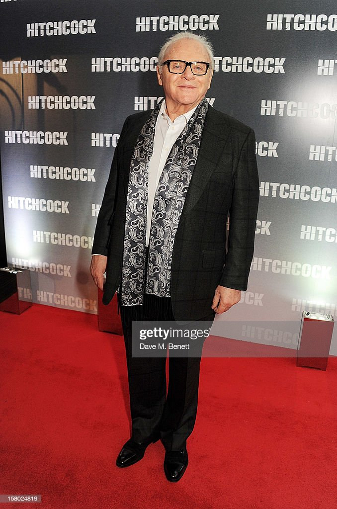 Sir Anthony Hopkins attends the UK Premiere of 'Hitchcock' at BFI Southbank on December 9 2012 in London England