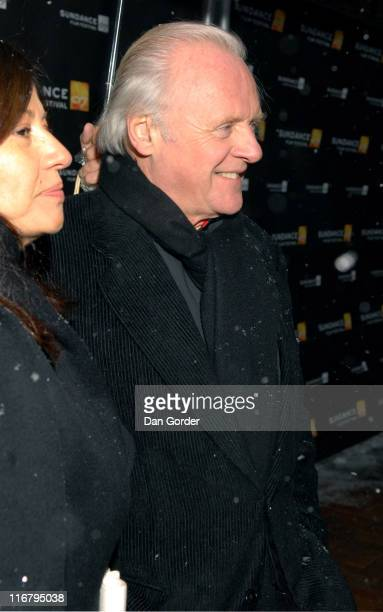 Sir Anthony Hopkins Director/Screenwriter/Actor during 2007 Sundance Film Festival 'Slipstream' Premiere at Library Center Theatre in Park City Utah...