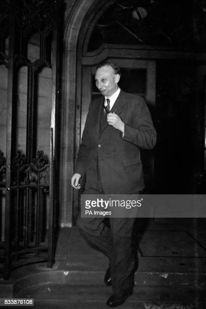 Sir Arnold Alexander Hall director of the Royal Aircraft Establishment Farnborough He is seen leaving Church House Westminster London after attending...