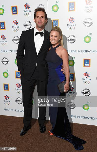 Sir Ben Ainslie and Georgie Thompson attend the Team GB Olympic Ball at The Royal Opera House on September 9 2015 in London England