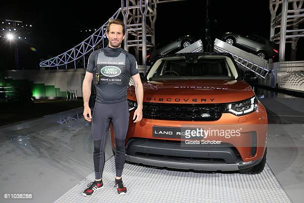 Sir Ben Ainslie sailor during the world premiere of the allnew Land Rover Discovery at Packington Hall park on September 28 2016 in Birmingham England