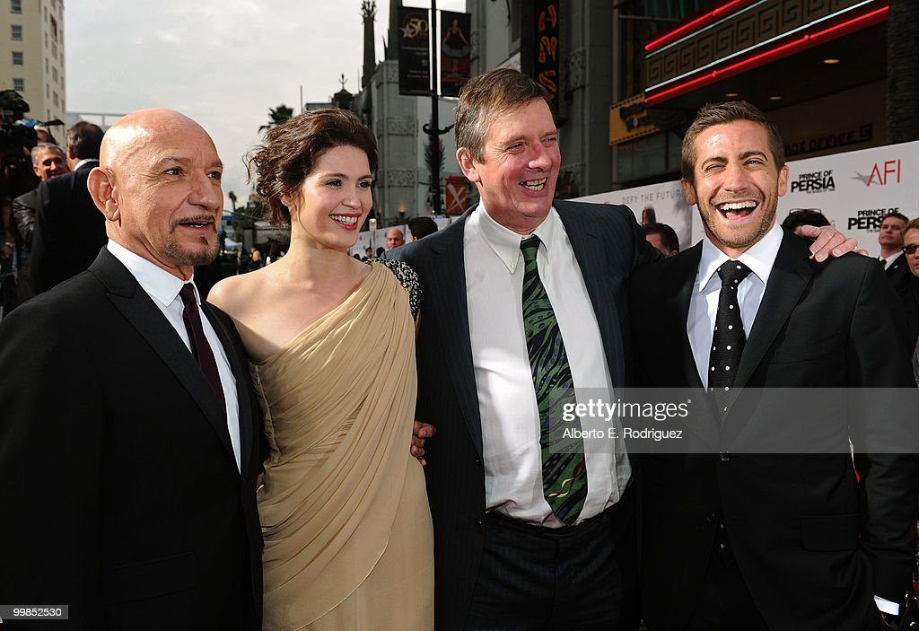 Sir Ben Kingsley, actress Gemma Arterton, director Mike Newell and actor Jake Gyllenhaal arrive at the 'Prince of Persia: The Sands of Time' Los Angeles premiere held at Grauman's Chinese Theatre on May 17, 2010 in Hollywood, California.