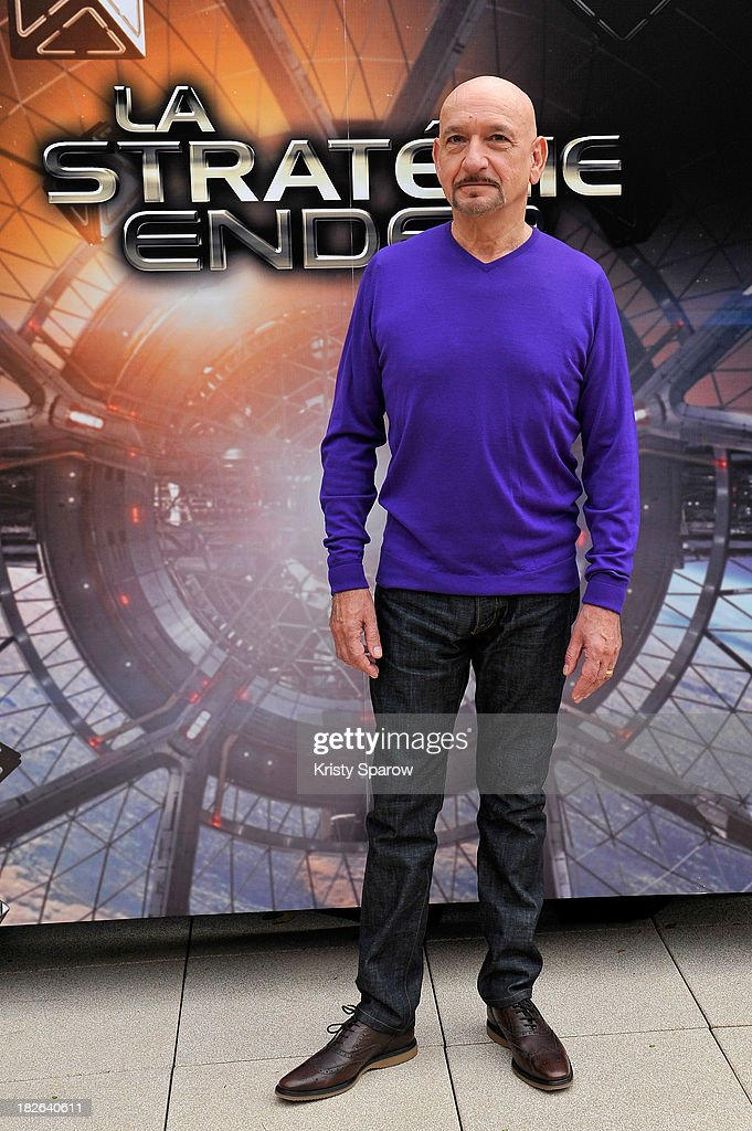 Sir Ben Kingsley attends the 'Ender's Game' Photocall at the Mandarin Hotel in Paris on October 2, 2013 in Paris, France.