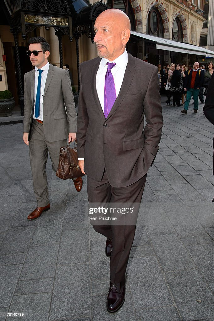 Sir Ben Kingsley sighted in Leicester Square on March 12, 2014 in London, England.