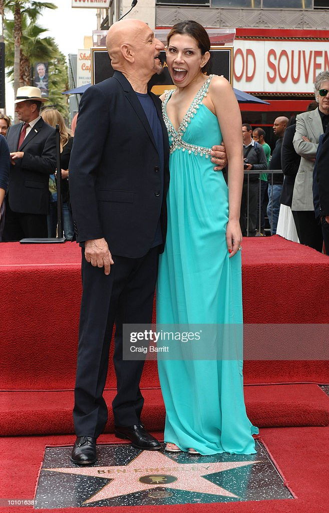 Sir Ben Kingsley with his wife Daniela Lavender after being honored with a star on the Hollywood Walk Of Fame on May 27, 2010 in Hollywood, California.