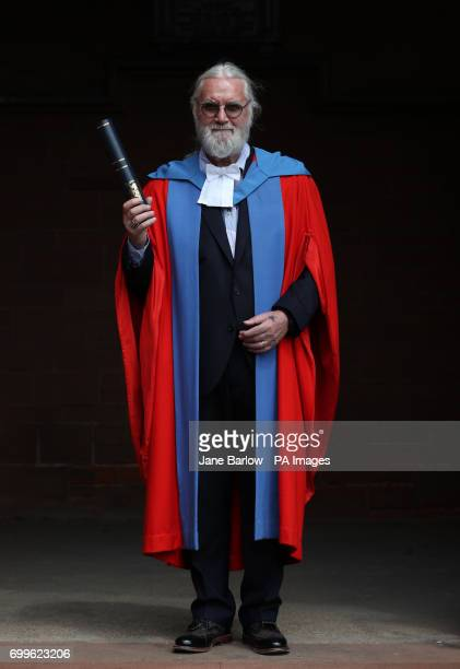 Sir Billy Connolly after he received his Honorary Doctorate degree from the University of Strathclyde in Glasgow