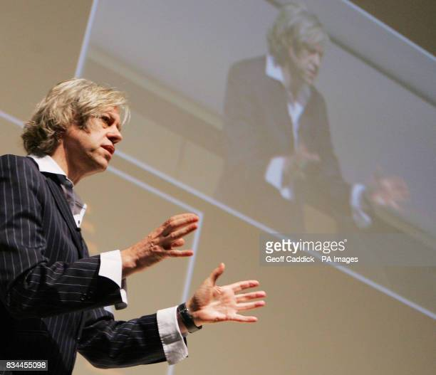Sir Bob Geldof addresses the NESTA 'The Innovation Edge' conference at London's Royal Festival Hall