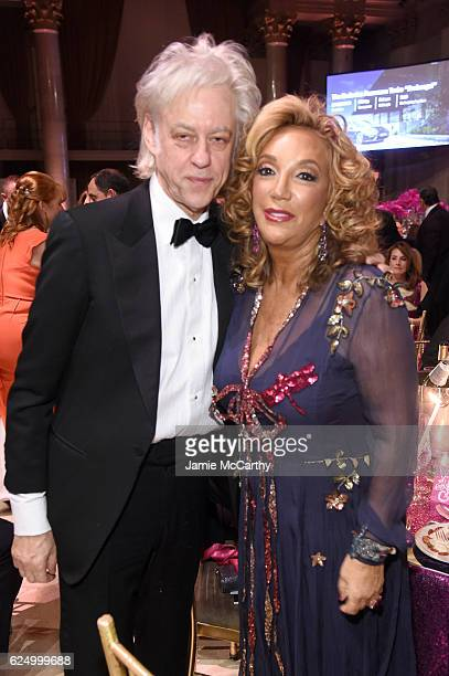 Sir Bob Geldof and Founder Denise Rich attend the 2016 Angel Ball hosted by Gabrielle's Angel Foundation For Cancer Research on November 21 2016 in...