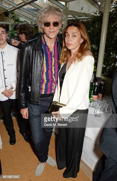 Sir Bob Geldof and Jeanne Marine attend Tracey Emin's birthday party at Mark's Club on July 3 2014 in London England