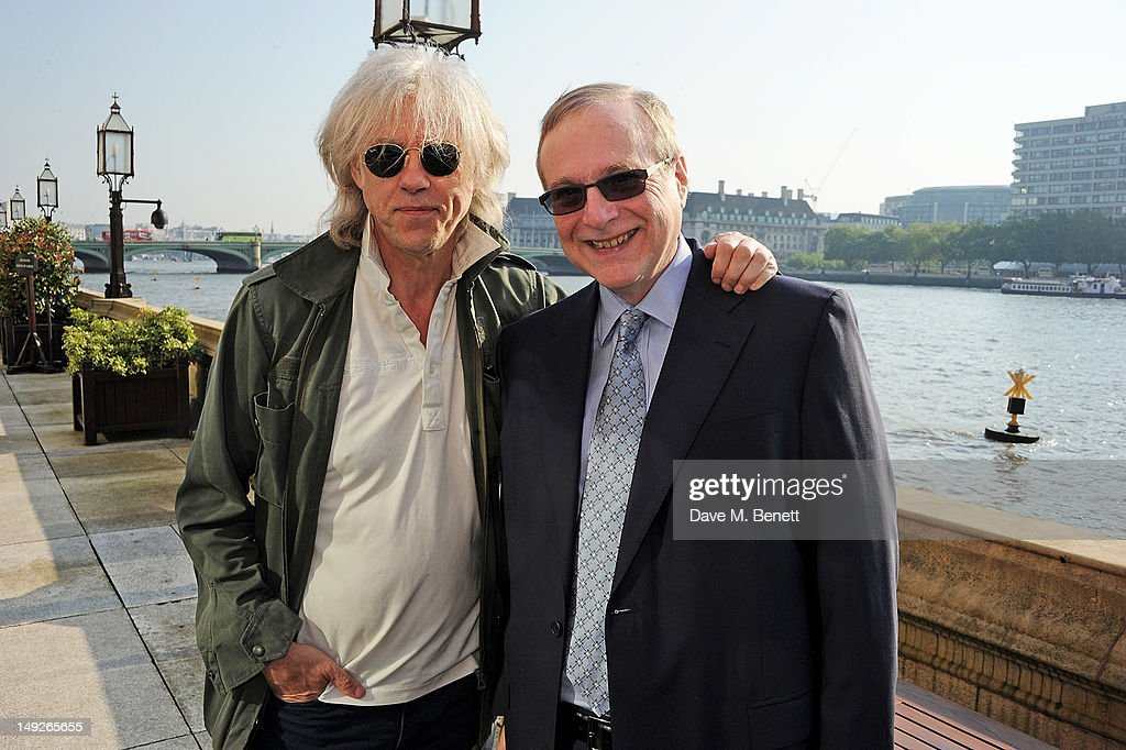 Sir Bob Geldof (L) and Microsoft Co-Founder Paul Allen attend the DNA (Decide Now Act) Summit Innovation 101 Power Breakfast in the Cholmondeley Room & Terrace at the House of Lords on July 26, 2012 in London, England.