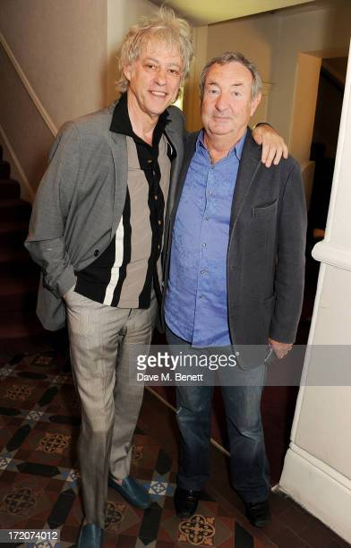 Sir Bob Geldof and Nick Mason attend the launch of Nicky Haslam's new album 'Midnight Matinee' on July 1 2013 in London England