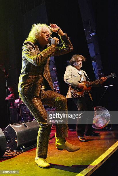 Sir Bob Geldof and Pete Briquette of The Boomtown Rats perform live on stage at The Kentish Town Forum on November 7 2014 in London United Kingdom