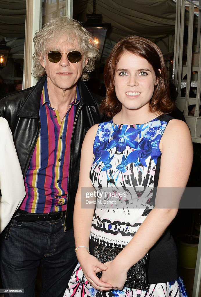 <a gi-track='captionPersonalityLinkClicked' href=/galleries/search?phrase=Sir+Bob+Geldof&family=editorial&specificpeople=204423 ng-click='$event.stopPropagation()'>Sir Bob Geldof</a> (L) and <a gi-track='captionPersonalityLinkClicked' href=/galleries/search?phrase=Princess+Eugenie&family=editorial&specificpeople=160237 ng-click='$event.stopPropagation()'>Princess Eugenie</a> of York attend Tracey Emin's birthday party at Mark's Club on July 3, 2014 in London, England.