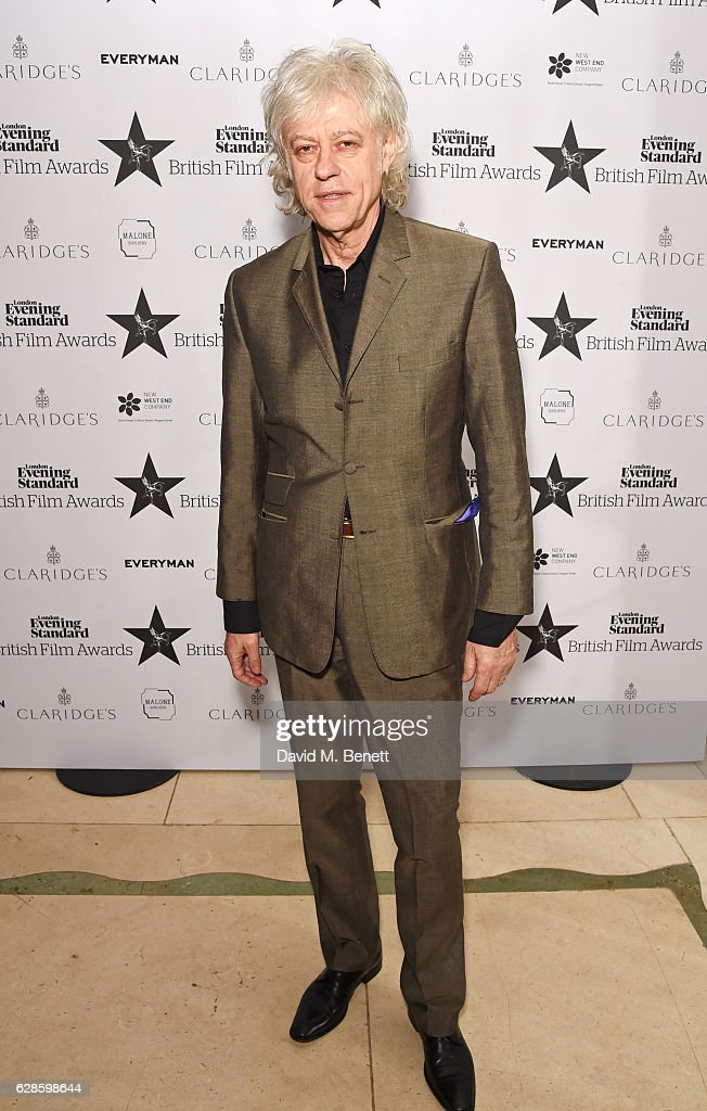 Sir Bob Geldof arrives at The London Evening Standard British Film Awards at Claridge's Hotel on December 8, 2016 in London, England.