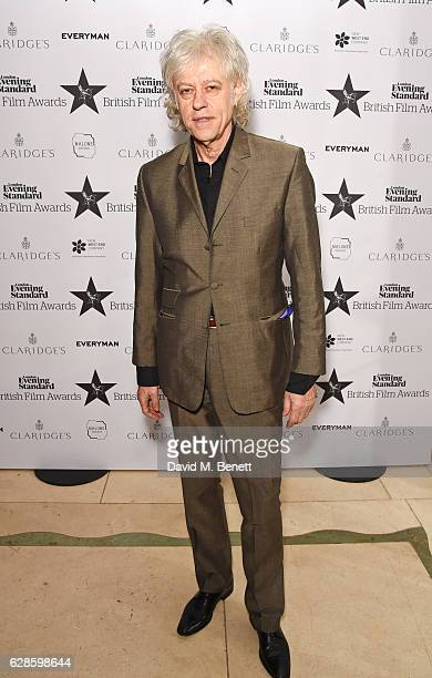 Sir Bob Geldof arrives at The London Evening Standard British Film Awards at Claridge's Hotel on December 8 2016 in London England