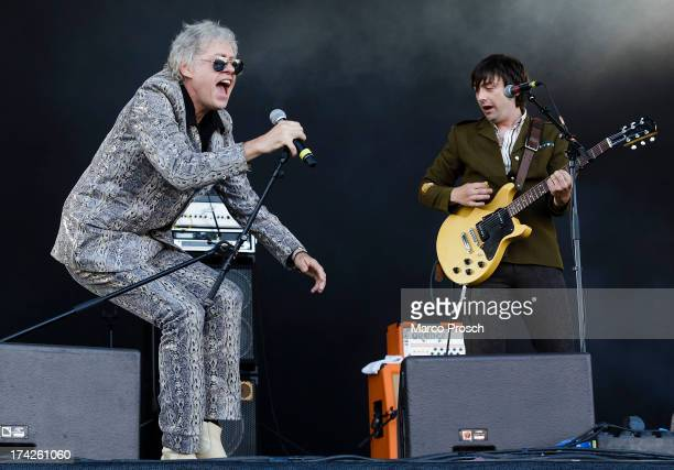 Sir Bob Geldof of the Boomtown Rats performs during the Seenland Festival on July 7 2013 in Hoyerswerda Germany