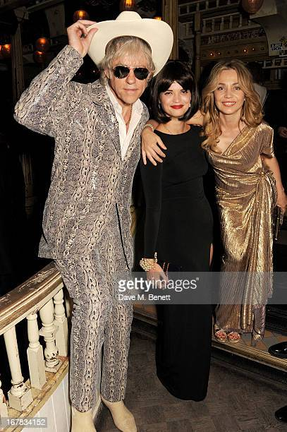Sir Bob Geldof Pixie Geldof and Jeanne Marine attend Fran Cutler's surprise birthday party supported by ABSOLUT Elyx at The Box Soho on April 30 2013...