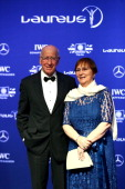 Sir Bobby Charlton and his wife Norma Charlton attend the 2014 Laureus World Sports Awards at the Istana Budaya Theatre on March 26 2014 in Kuala...