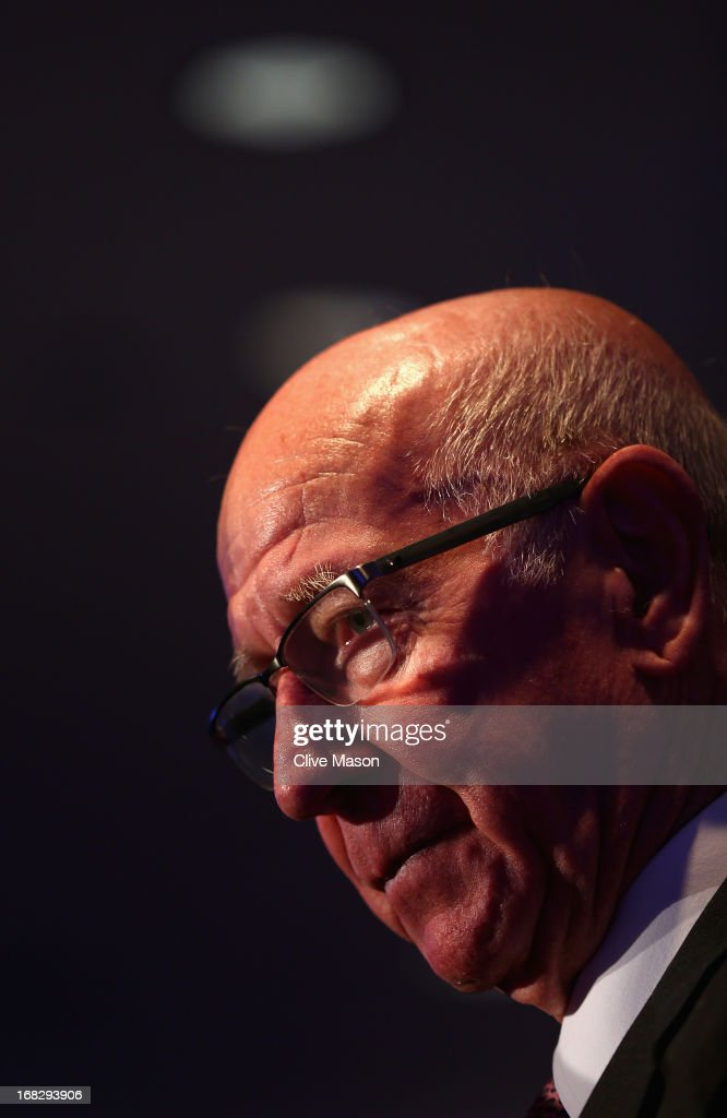 Sir <a gi-track='captionPersonalityLinkClicked' href=/galleries/search?phrase=Bobby+Charlton&family=editorial&specificpeople=204207 ng-click='$event.stopPropagation()'>Bobby Charlton</a> talks to the media during the Football Association's Royal Mail Stamp Launch at Wembley Stadium on May 8, 2013 in London, England.