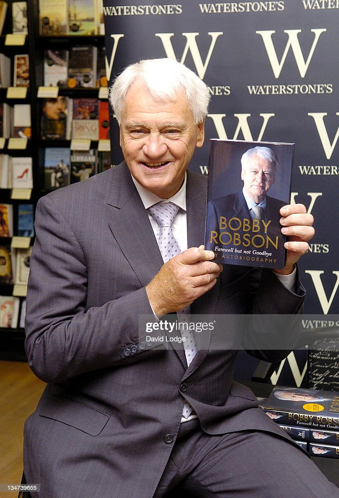 Sir Bobby Robson during Sir Bobby Robson Signs His Book 'Farewell But Not Goodbye' at Waterstone's in London - July 29, 2005 at Waterstone's in London, Great Britain.