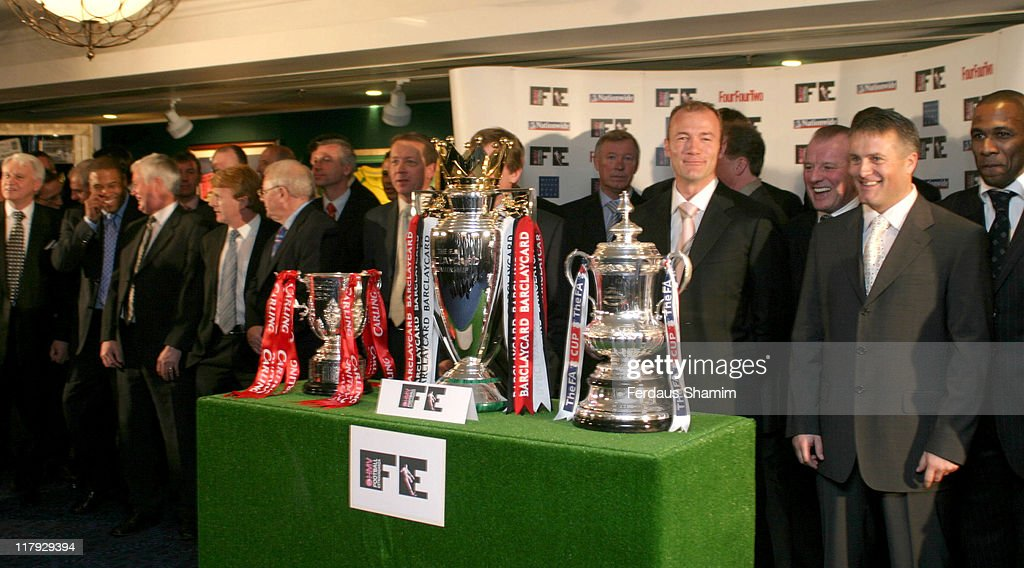 Sir <a gi-track='captionPersonalityLinkClicked' href=/galleries/search?phrase=Bobby+Robson&family=editorial&specificpeople=203292 ng-click='$event.stopPropagation()'>Bobby Robson</a>, <a gi-track='captionPersonalityLinkClicked' href=/galleries/search?phrase=John+Barnes+-+Soccer+Player&family=editorial&specificpeople=13833127 ng-click='$event.stopPropagation()'>John Barnes</a>, guest, <a gi-track='captionPersonalityLinkClicked' href=/galleries/search?phrase=Gordon+Strachan&family=editorial&specificpeople=243133 ng-click='$event.stopPropagation()'>Gordon Strachan</a>, guest, <a gi-track='captionPersonalityLinkClicked' href=/galleries/search?phrase=Alan+Curbishley&family=editorial&specificpeople=241559 ng-click='$event.stopPropagation()'>Alan Curbishley</a>, Sir <a gi-track='captionPersonalityLinkClicked' href=/galleries/search?phrase=Alex+Ferguson&family=editorial&specificpeople=203067 ng-click='$event.stopPropagation()'>Alex Ferguson</a>, <a gi-track='captionPersonalityLinkClicked' href=/galleries/search?phrase=Alan+Shearer&family=editorial&specificpeople=157676 ng-click='$event.stopPropagation()'>Alan Shearer</a>, Dave Basset,<a gi-track='captionPersonalityLinkClicked' href=/galleries/search?phrase=Micky+Adams&family=editorial&specificpeople=208747 ng-click='$event.stopPropagation()'>Micky Adams</a> and <a gi-track='captionPersonalityLinkClicked' href=/galleries/search?phrase=Les+Ferdinand&family=editorial&specificpeople=213918 ng-click='$event.stopPropagation()'>Les Ferdinand</a>