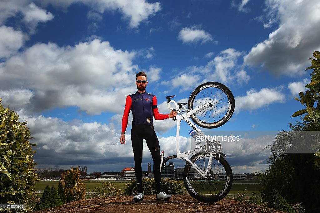 Sir Bradley Wiggins of Great Britain and the Wiggins team poses for a photo ahead of the Tour de Yorkshire on April 30 2015 in York England