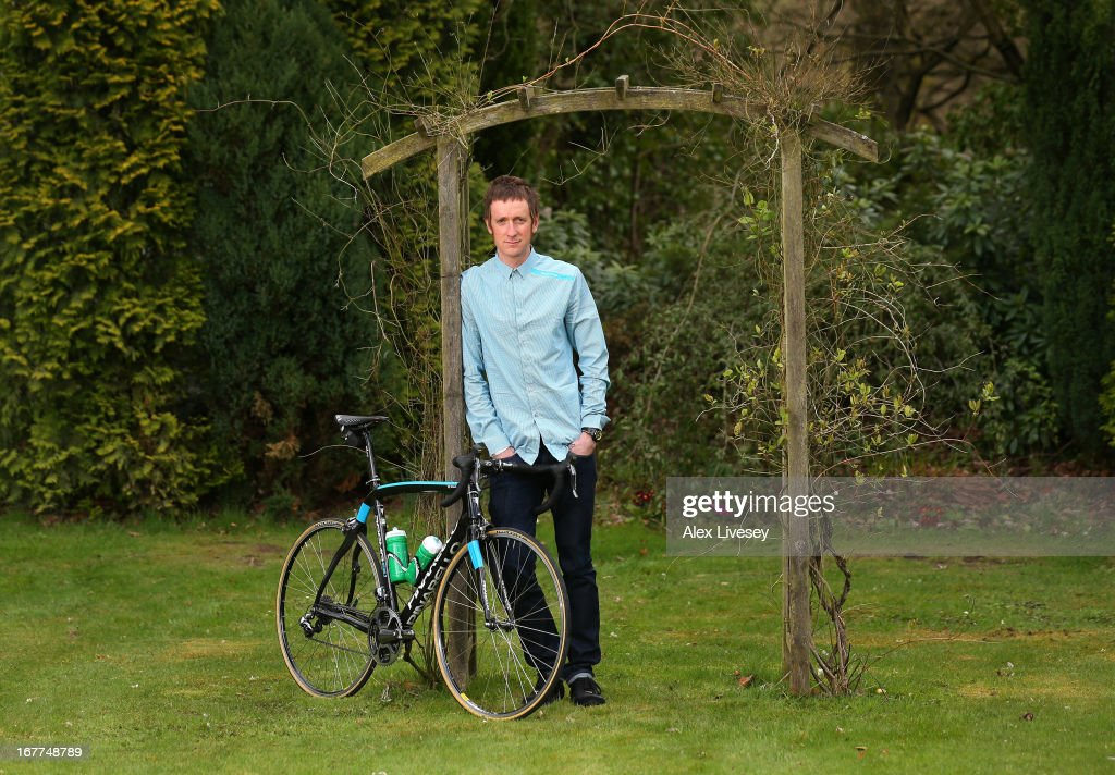 Sir <a gi-track='captionPersonalityLinkClicked' href=/galleries/search?phrase=Bradley+Wiggins&family=editorial&specificpeople=182490 ng-click='$event.stopPropagation()'>Bradley Wiggins</a> poses for a portrait during a media day ahead of the Giro de Italia at the Kilhey Court Hotel on April 29, 2013 in Wigan, England.