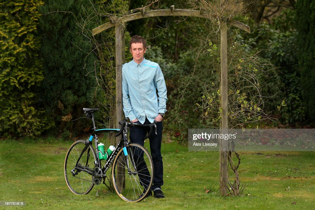 Sir <a gi-track='captionPersonalityLinkClicked' href=/galleries/search?phrase=Bradley+Wiggins&family=editorial&specificpeople=182490 ng-click='$event.stopPropagation()'>Bradley Wiggins</a> poses for a portrait during a media day ahead of the Giro d'Italia at the Kilhey Court Hotel on April 29, 2013 in Wigan, England.