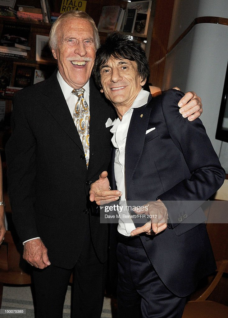 Sir Bruce Forsyth (L) and Ronnie Wood attend as Naomi Campbell hosts an Olympic Celebration Dinner in partnership with Fashion For Relief, Interview Magazine and Downtown Mayfair celebrating the amazing accomplishments of Team GB on August 9, 2012 in London, United Kingdom. Guest joined event hosts Naomi, Vladislav Doronin and Giuseppe Cipriani at London's Downtown Mayfair. 'The 2012 Olympics have been remarkable - I am elated for Team GB and the extraordinary success they have had so far. It's a very special and proud time to be in London and to celebrate the outstanding talent, which has been showcased during the games. I wish everyone taking part in London 2012 continued strength, determination and perseverance for the remainder of the games.'
