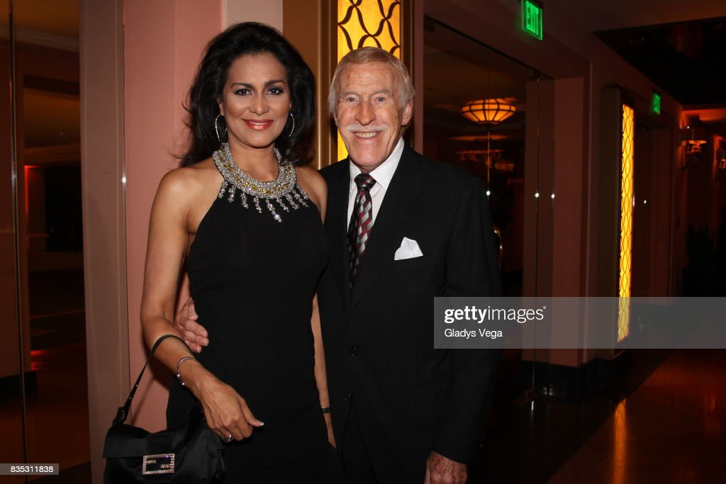 Sir Bruce Forsyth (R) and wife Wilnelia Merced attend the Rita Moreno concert at Vanderbilt Hotel on February 14, 2014 in San Juan, Puerto Rico.