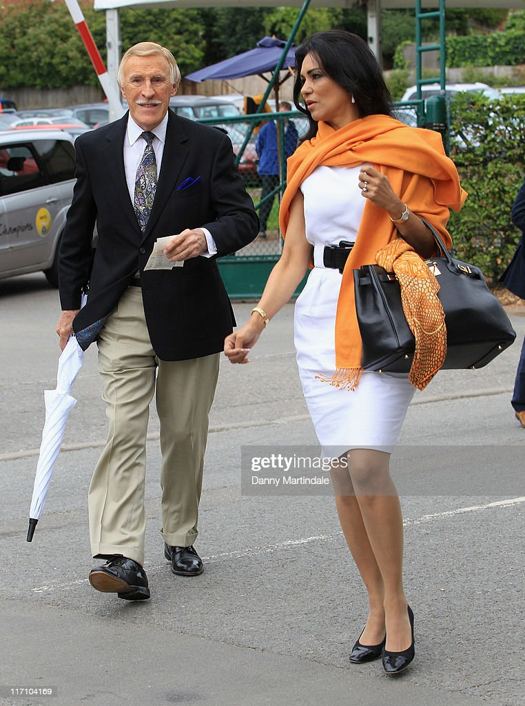 Sir <a gi-track='captionPersonalityLinkClicked' href=/galleries/search?phrase=Bruce+Forsyth&family=editorial&specificpeople=158119 ng-click='$event.stopPropagation()'>Bruce Forsyth</a> and Wilnelia Forsyth attends the Wimbledon Championships 2011 at the All England Club on June 22, 2011 in London, England.