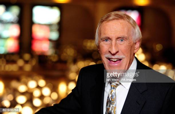 Sir Bruce Forsyth is seen at the Hipppodrome Casino where he unveiled 2 memorial plaques marking his record breaking number of appearances at The...